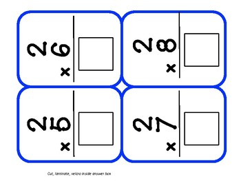 Multiplication Independent Task Boxes