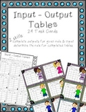 Multiplication Input Output Tables Task Cards