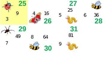 Multiplication Insects Calendar Pattern