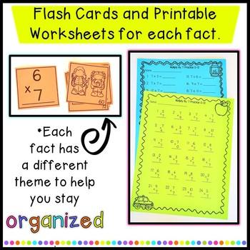 Multiplication fact Incentive unit-awards, flash cards,  awards etc.