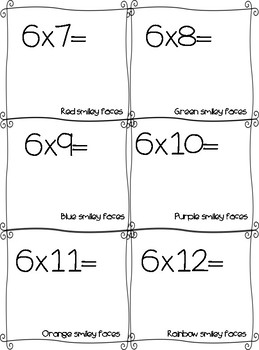 Multiplication Interactive Flash Cards