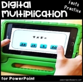 Multiplication Google Classroom & Powerpoint   Multiplication Fact Fluency  x 4
