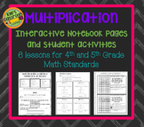 Multiplication of Larger Numbers Interactive Notebook and Student Activities