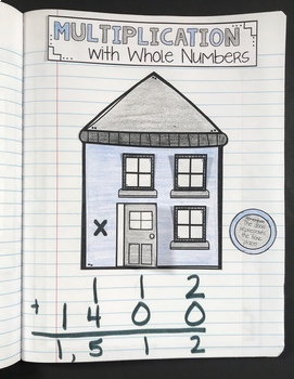 Multiplication Interactive Notebook {4.NBT.5}