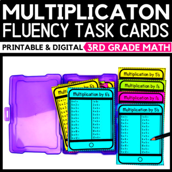 Multiplication Strategies Task Cards Bundle
