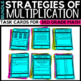 Multiplication Strategies Task Cards Bundle - Classroom and Distance Learning