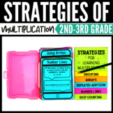 Multiplication Strategies Task Cards Bundle - Classroom an