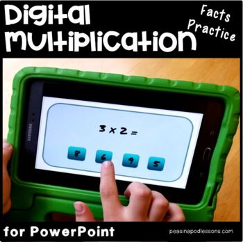 Multiplication Interactive Game (x 2) Power Point and Google Slides Versions