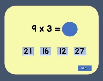 Multiplication Interactive Game (x 3) Power Point and Google Slides Versions