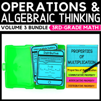Operations and Algebraic Thinking Task Cards Volume 3 Bundle