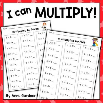 Math Fact Practice: Multiplication Fluency Pack {Ideal for Intervention}
