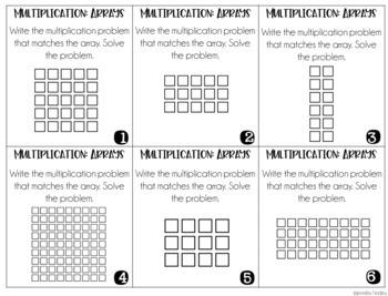 Multiplication Intervention Task Cards   Multiplication Conceptual Understanding