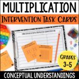 Multiplication Intervention Task Cards | Multiplication Co