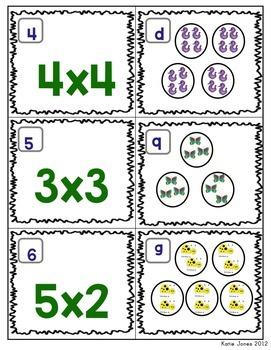 Multiplication Intro Matching Game {Freebie!}