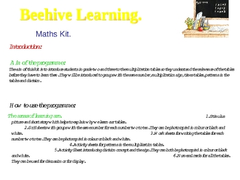 Multiplication :Introduction to times tables