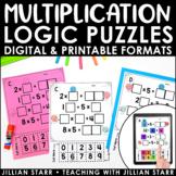 Multiplication Logic Puzzles   Digital & Printable   Dista