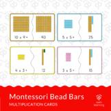 Multiplication JIGSAW CARDS with Montessori Bead Bars
