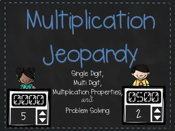 Interactive Multiplication Jeopardy Game Show