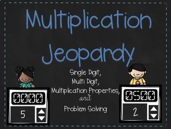 Multiplication Jeopardy - Editable