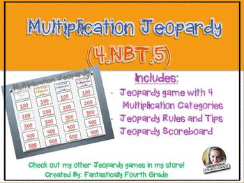 Multiplication Jeopardy (4.NBT.5)