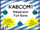 Multiplication KABOOM Game! - Practicing the Hard Facts