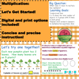Multiplication:  Let's Get Going or Let's Review!