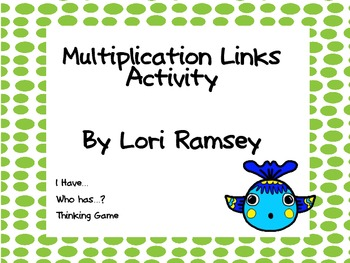 Multiplication Links Activity
