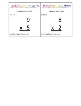Multiplication Locomotion Game