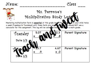 Multiplication Log #5