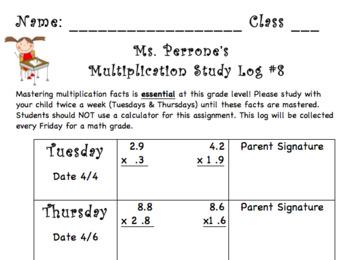 Multiplication Log #8