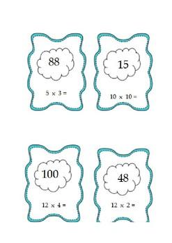Multiplication Loop Card Game