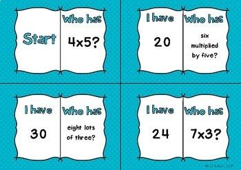 Multiplication Loop Cards