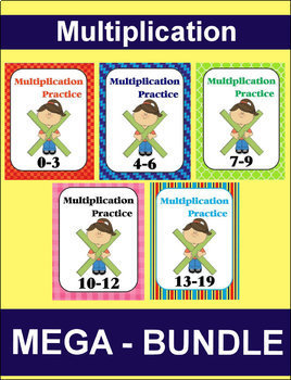 Multiplication MEGA-BUNDLE (Facts 0-19)