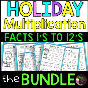 Multiplication MEGA Bundle (Facts 1's-12's) with Jokes (7 sets!)