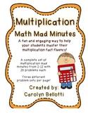 Multiplication Math Mad Minutes: Math Fact Fluency Tool