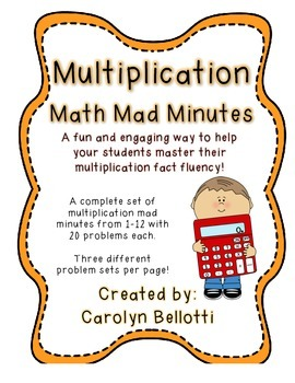 Multiplication Math Mad Minutes: Math Fact Fluency Tool