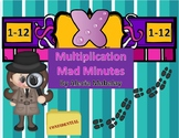 Multiplication Mad Minutes (Timed Tests Numbers 1-12)
