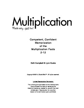 Multiplication Made Easy and Fun!