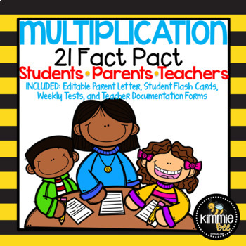 Multiplication Made Simple Editable 21 Fact Pact