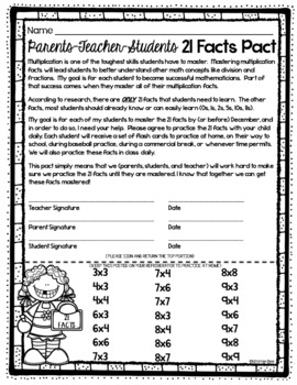 Multiplication Flash Cards and Student Assessment
