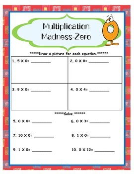 Multiplication Madness 0s Multiplication Facts