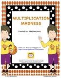 Multiplication Madness:  A Multiplication BUNDLE PACK