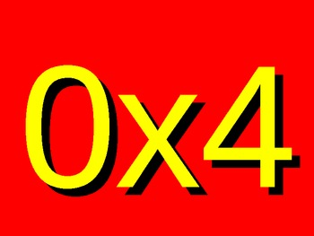 Multiplication Madness, Basic Facts from 0-10