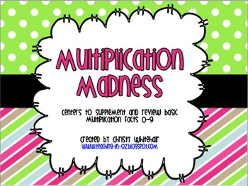 Centers to Supplement & Review Basic Multiplication