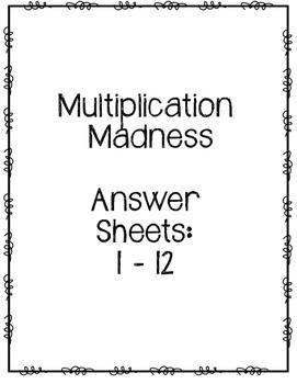 Multiplication Madness Challenge: Multiplication Family Drills (1-12) Worksheet
