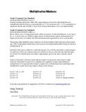 Multiplication Madness: Fact Fluency