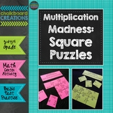 Multiplication Madness: Square Puzzles Basic Fact Practice