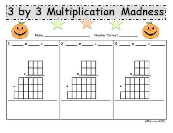Multiplication Madness Standard Algorithm 4.NBT.5 and 5.NBT.5