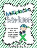 Multiplication Madness {Timed Tests, Center Games, and Practice Activities}