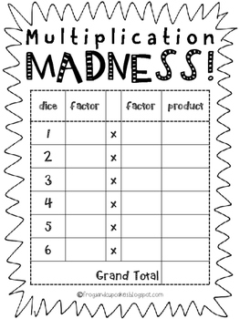 Multiplication Madness! game